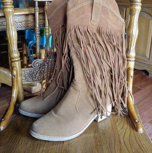 Cape Robbin Fringe Boots